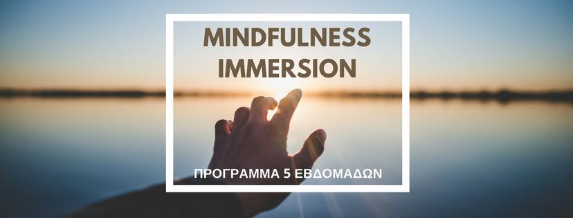 Πρόγραμμα mindfulness Immersion Μείωση Άγχους Καλύτερη Ζωή One Breath Mindfulness Center