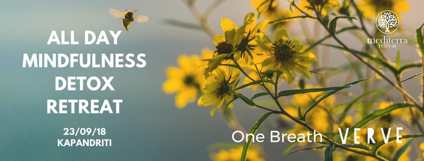 All Day Mindfulness Detox Retreat - Μέσα στη φύση, κοντά στην Αθήνα, στο καταπράσινο Mediterra Retreat περάσαμε μια ημέρα με εντατική εξάσκηση mindfulness, mindful yoga και ένα εξατομικευμένο juice & soup detox πρόγραμμα από τη Verve Juices. Wellbeing για το σώμα και το πνεύμα, που βοήθησε να ξεκινήσουμε τη