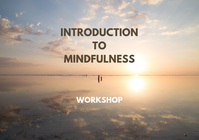 Introduction to Mindfulness - 2hour experiential introductory workshop to mindfulness, which includes a short guided meditation practice.