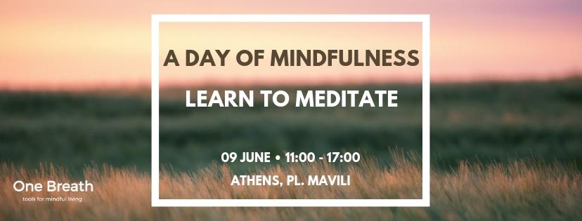 Σεμινάριο mindfulness Learn to Meditate One Breath Mindfulness Center