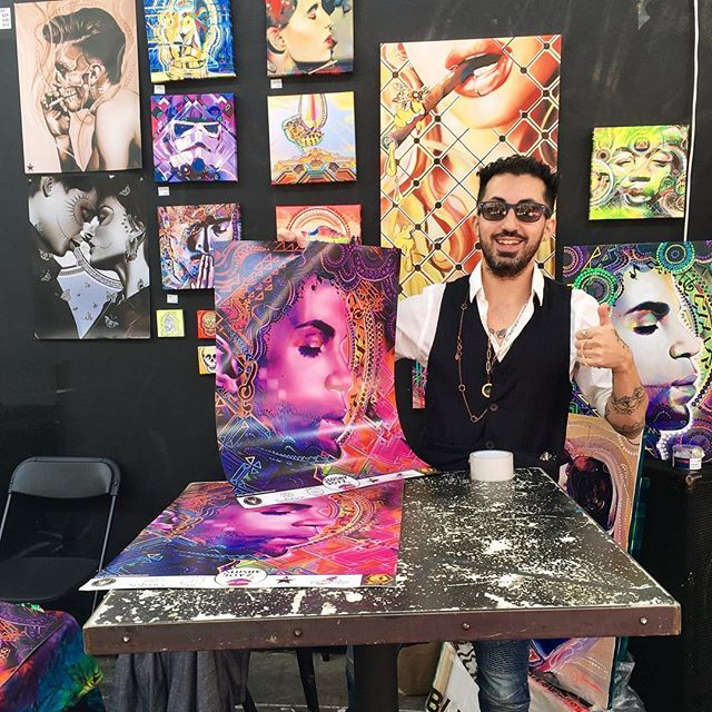 Creative people are easily bored, risk-takers and although we make allot of mistakes we think with our heart.  Good to see you all at the 2016 Seattle's Pipe Master collaboration (@7 point Studios) . . . . #justdoit  #pipemaster #Sevenpointstudios #Seattle #Artist #painter #love #whendovescry #purplerain #prince #inspired #peace #purple #music #passion #cool #greatest #MiamiartBasel #wynwood #graffiti #beauty #doitforlove #solsticeweed