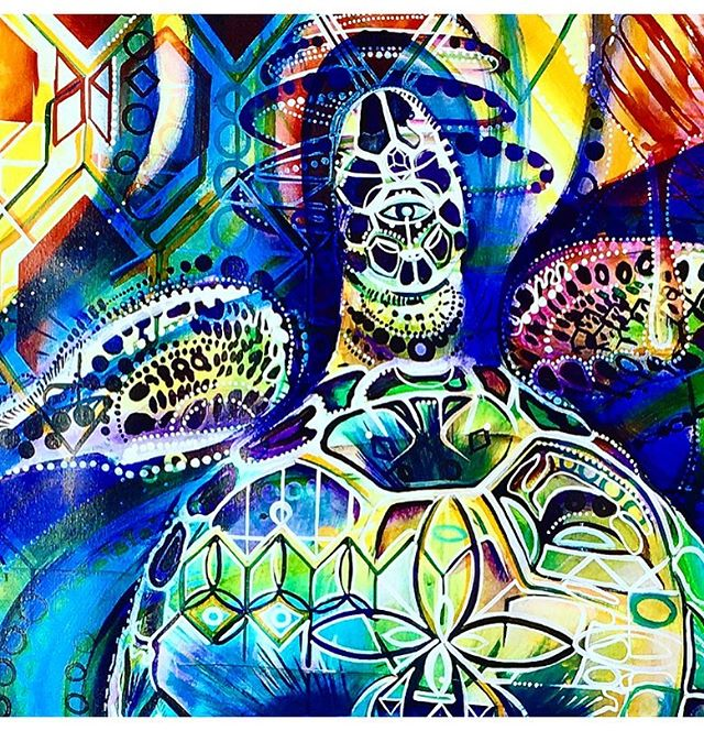 ......blessed to find this painting while organizing the studio. #GodFlow #nature . . . . . #aloha #seattleart #artist #painting #justdoit #fall #giveaway #turtles #artbaselmiami #miami #beautiful #beastmode #love #create #creativity #wynwood  #sacredgeometry #freethenipple #dreams #beastmode #seahawks #design #dabs #shatter #graffiti #kush