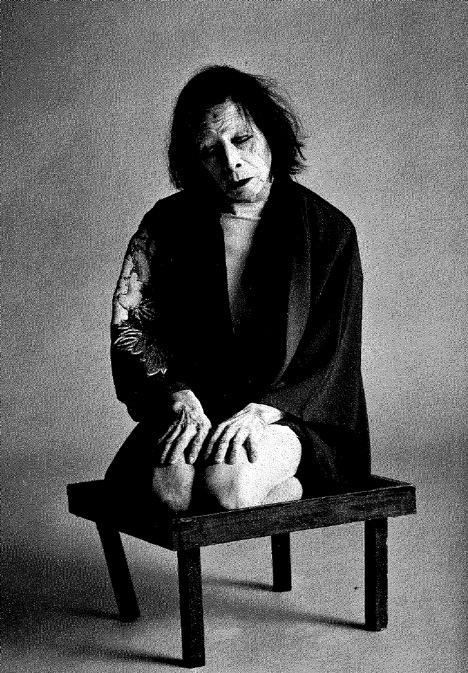 Kazuo Ohno in  Butoh: Shades of Darkness  taken by Nourit Masson-Sekine