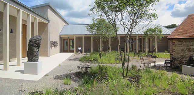 Internal courtyard and new galleries. Landscaping by Piet Oudolf