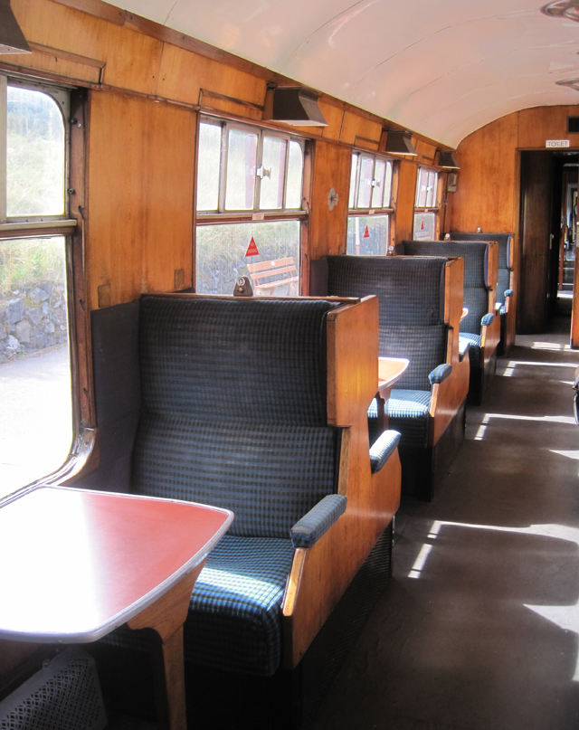 The earlier production carriages had veneered interiors and some even had little labels on the panels saying what type of wood it is and which country it came from.