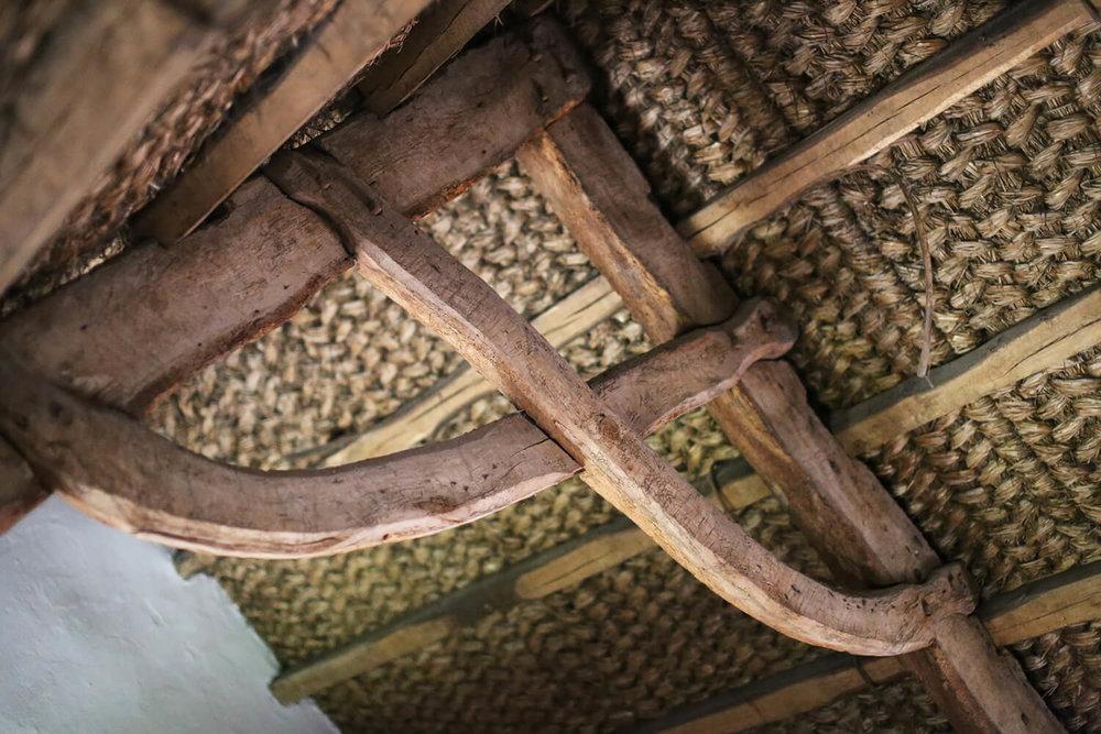 Kennixton-Farmhouse-woven-straw-ceiling-St Fagans-Welsh-Vernacular