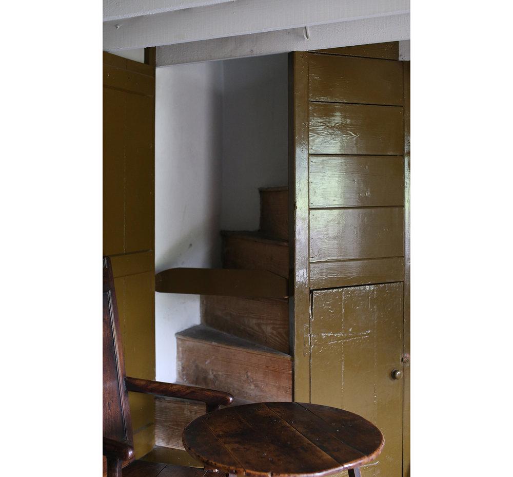 Rhyd-y-car-terrace-houses-staircase-St Fagans-Welsh-Vernacular