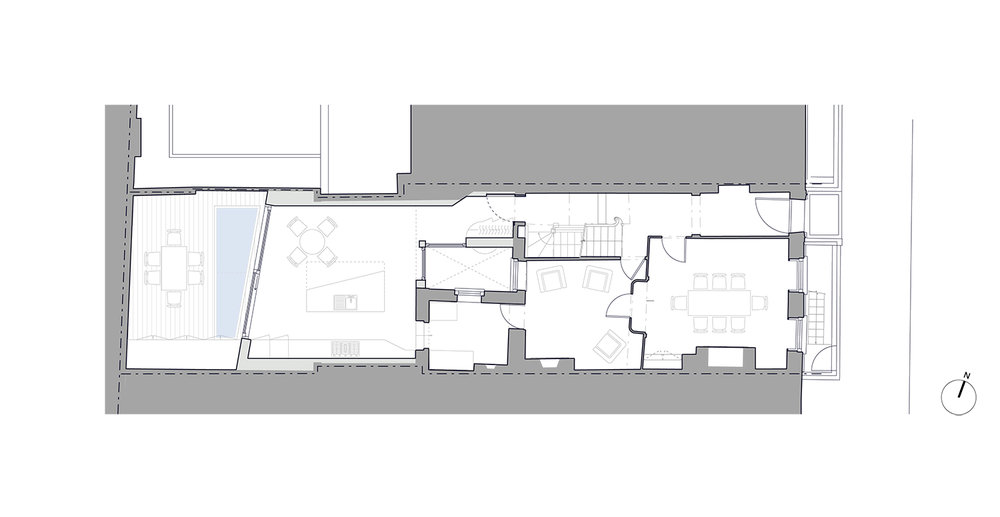 Prewett Bizley Architects - Lincolns Inn Town House -  GF Plan - 1500 .jpg