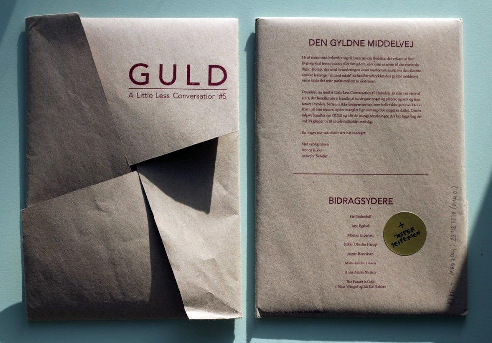 Til ALLC#5 brugte vi en foldeteknik, der gjorde tidsskriftets omslag til en slags konvolut.