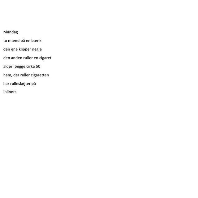 Mandag _________ #mandag #ord #tekst #dklit #dklitt #digt