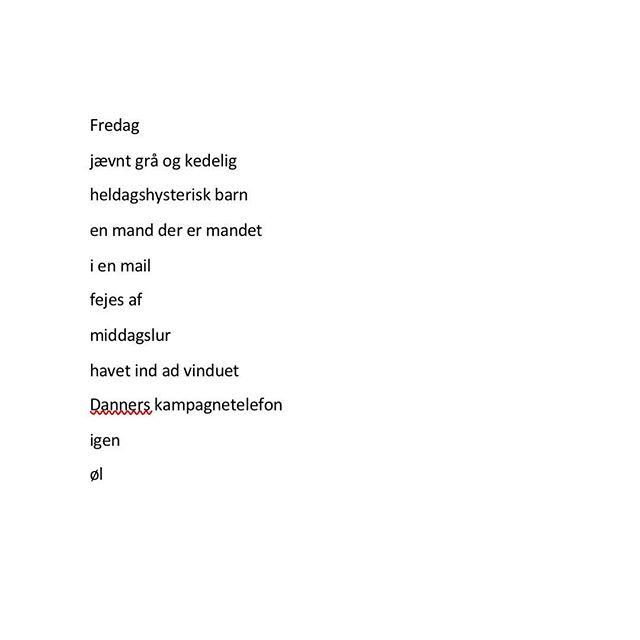 #ord #fredag #dklit #dklitt #digt #øl