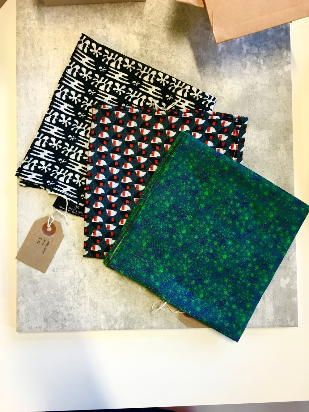 Textile designer Niki Fulton featured in Craft Scotland sumer show with her lovely array of textile designs. From scarves ties and pocket squares Niki has produced some intricate pattern work