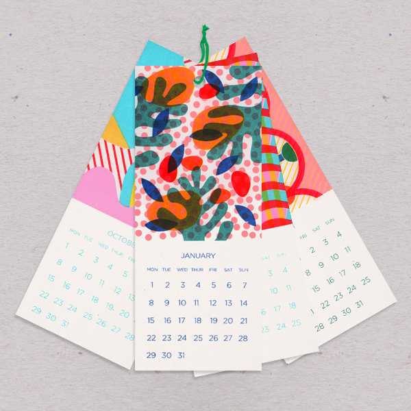 Navigate your way through the year with this fun desktop calendar by Risotto Studios