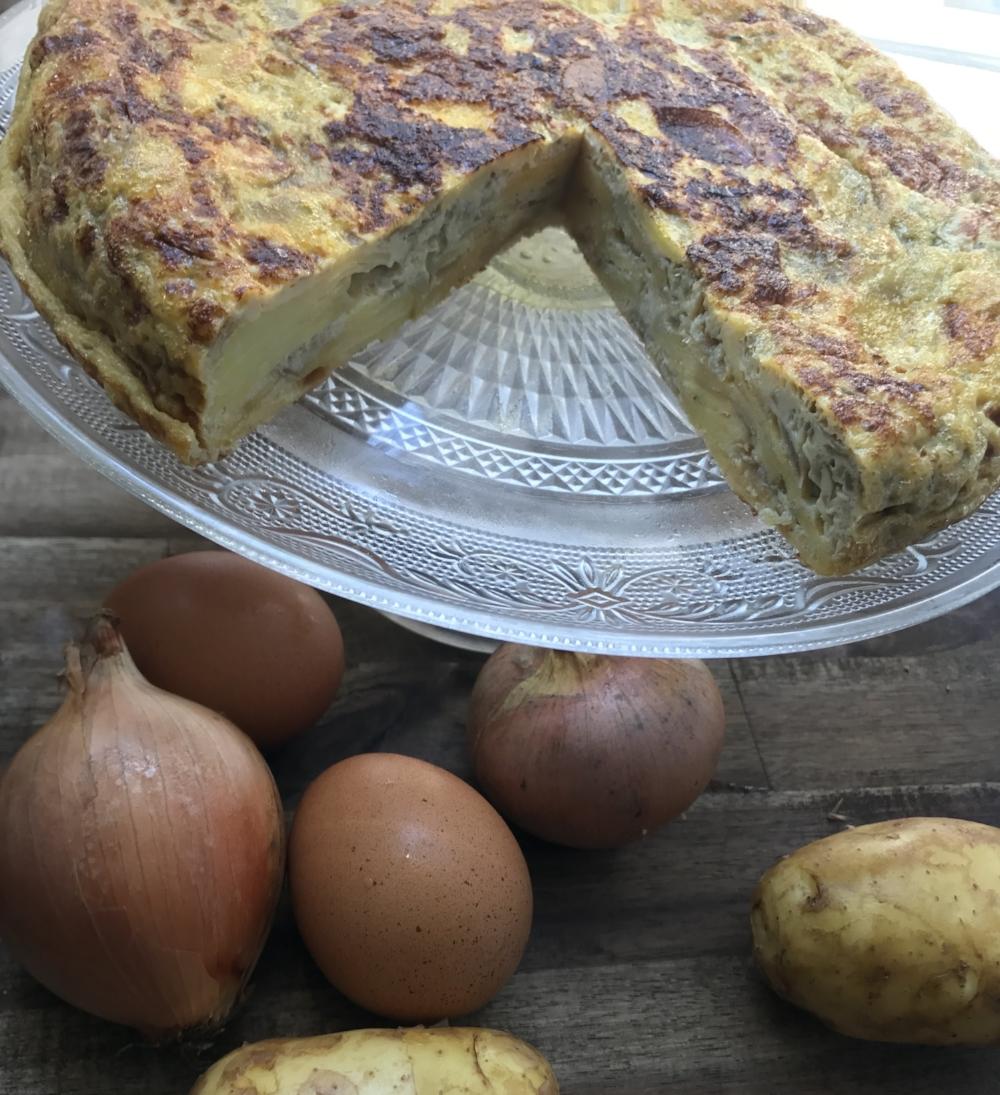 Tortilla española - Pommes de terre, oeufs et oignons confits
