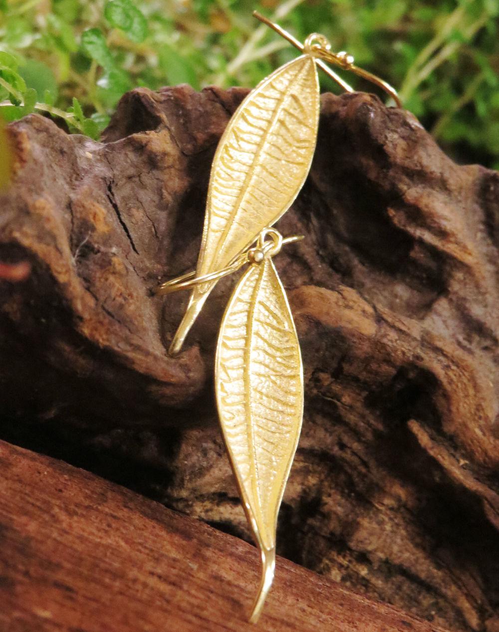 Ohrringe Leaf 925er Silber vergoldet, 39 €