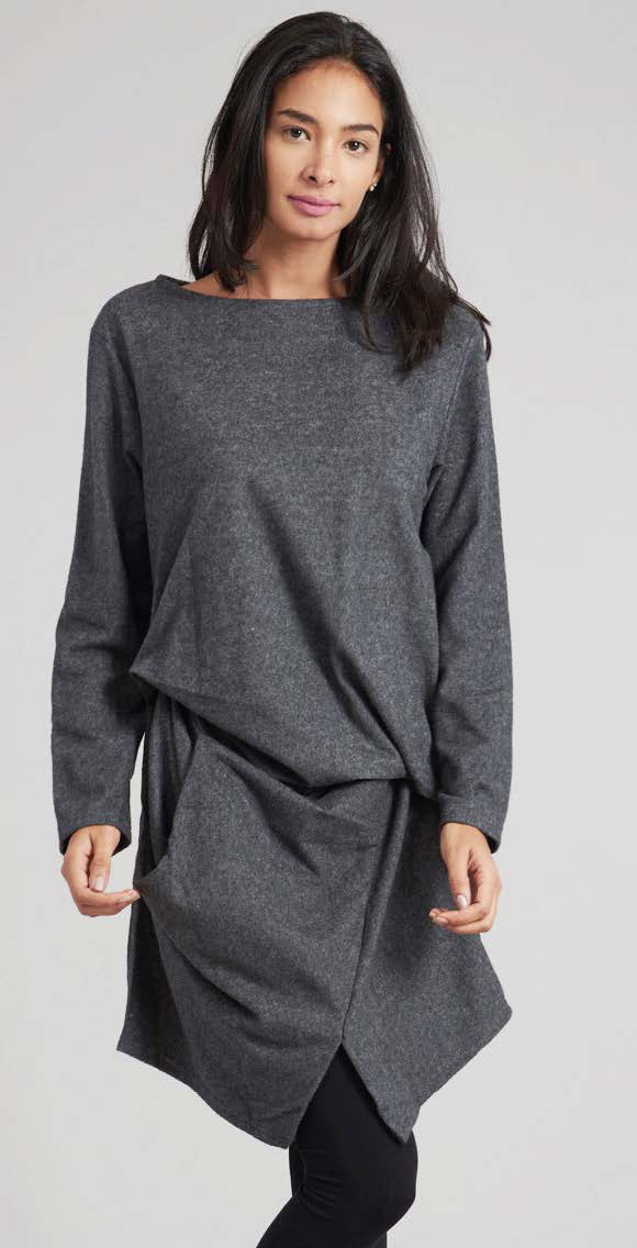 Asymetrisch geschnittene Tunika - sehr weiches Material, 40% Polyester, 60% Baumwolle, one size, 55 €