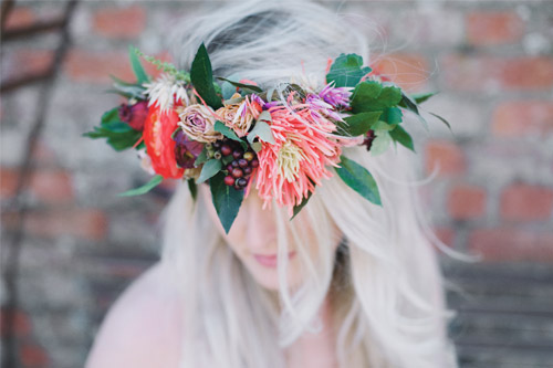Colourful Dried Flower Floral Crown Headband