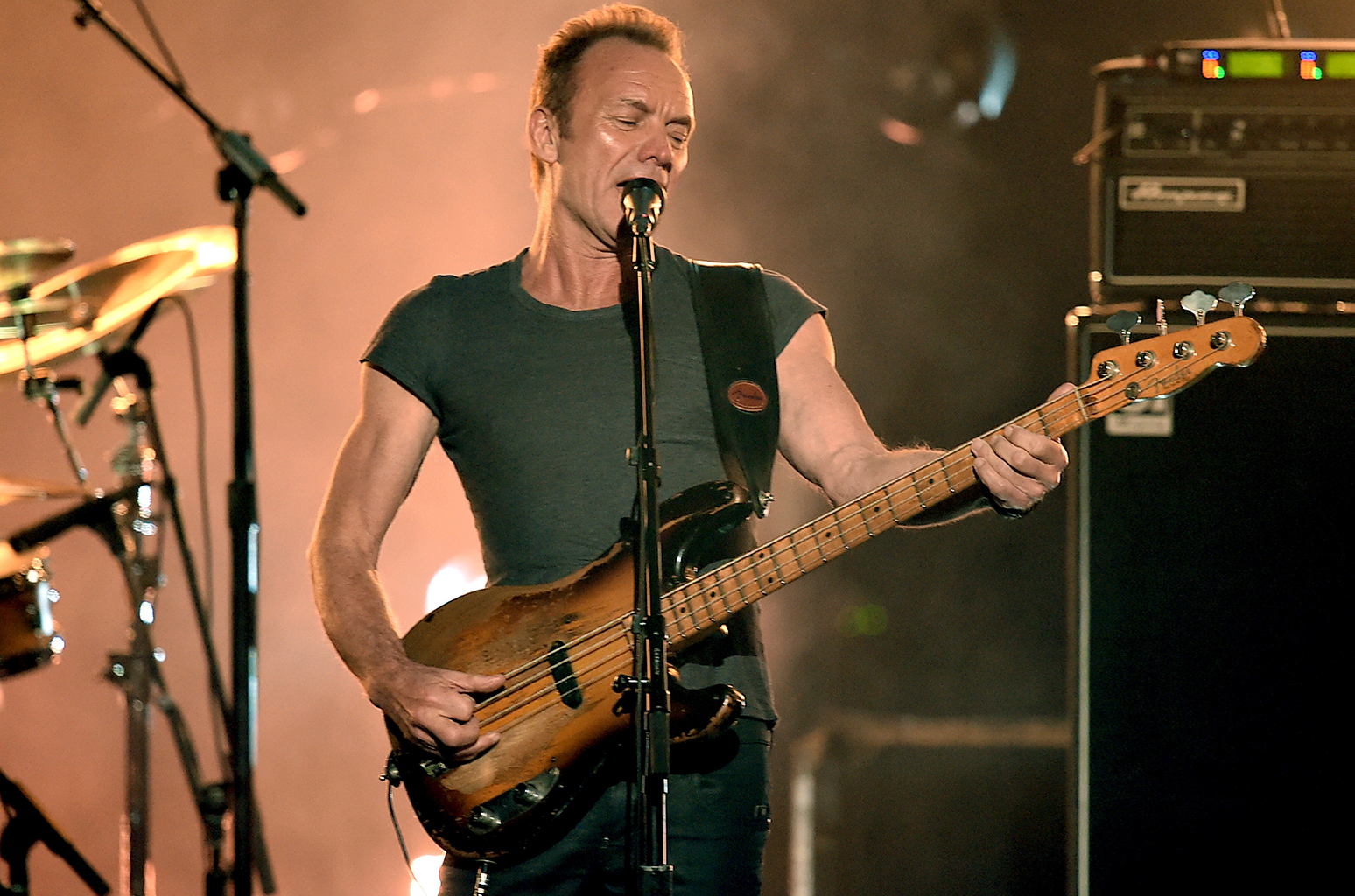 LOS ANGELES, CA - NOVEMBER 20: Musician Sting performs onstage during the 2016 American Music Awards at Microsoft Theater on November 20, 2016 in Los Angeles, California. (Photo by Kevin Winter/Getty Images)