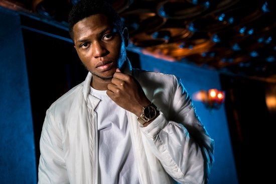 Gallant poses for a portrait prior to his performance at Red Bull Sound Select Presents 30 Days in LA, at the Ace Theater, in Los Angeles, CA, USA on 14 November, 2015.
