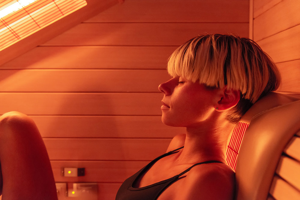 IR-sauna hos Bare Flyt