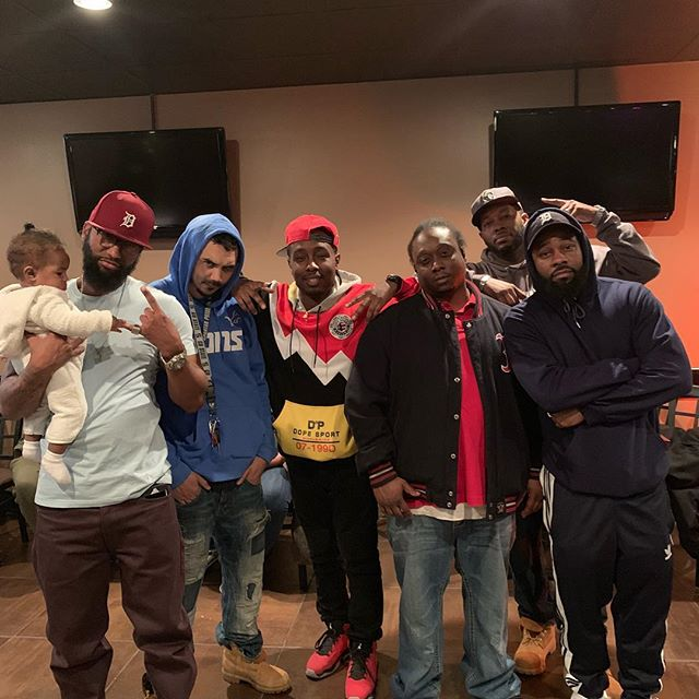 #tbt  Another Late Night Listening party. @wardskillz @babysosa550 @mrmoneyovaerrthang @hoodillustrated • • • • • • • • • • • • • • #spotify #drake #songwriter #mixtape #hiphoplife #hiphopnation #beatmaker #musicvideo #newyork #undergroundhiphop #instagood #song #rapartist #djs #atlanta #follow #beat #hiphopdance #mcm #freestyle #hiphopjunkie #fly #hiphopbeats #studio #young #songs #detroit #2019 #Newyear