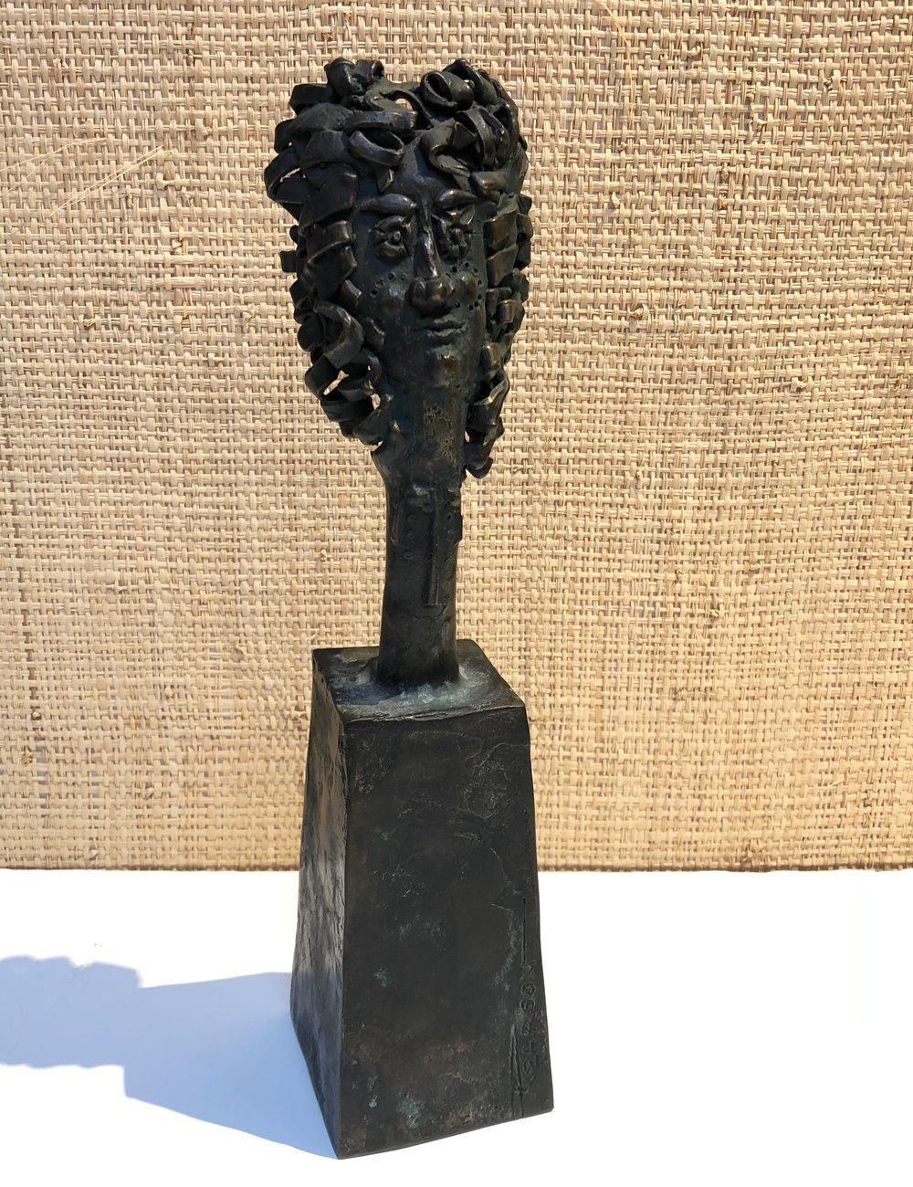 Whimsical Bronze Bust by James Pearson