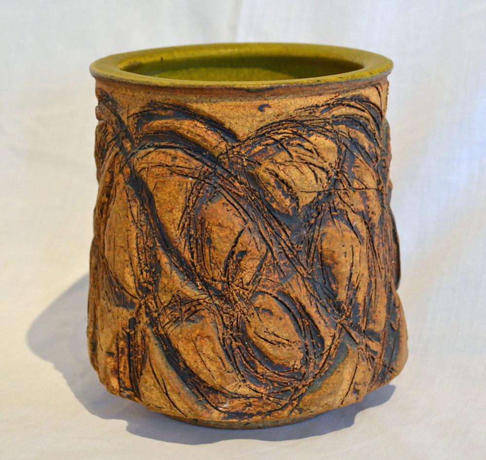 Victoria Littlejohn Studio Pottery with Incised Design