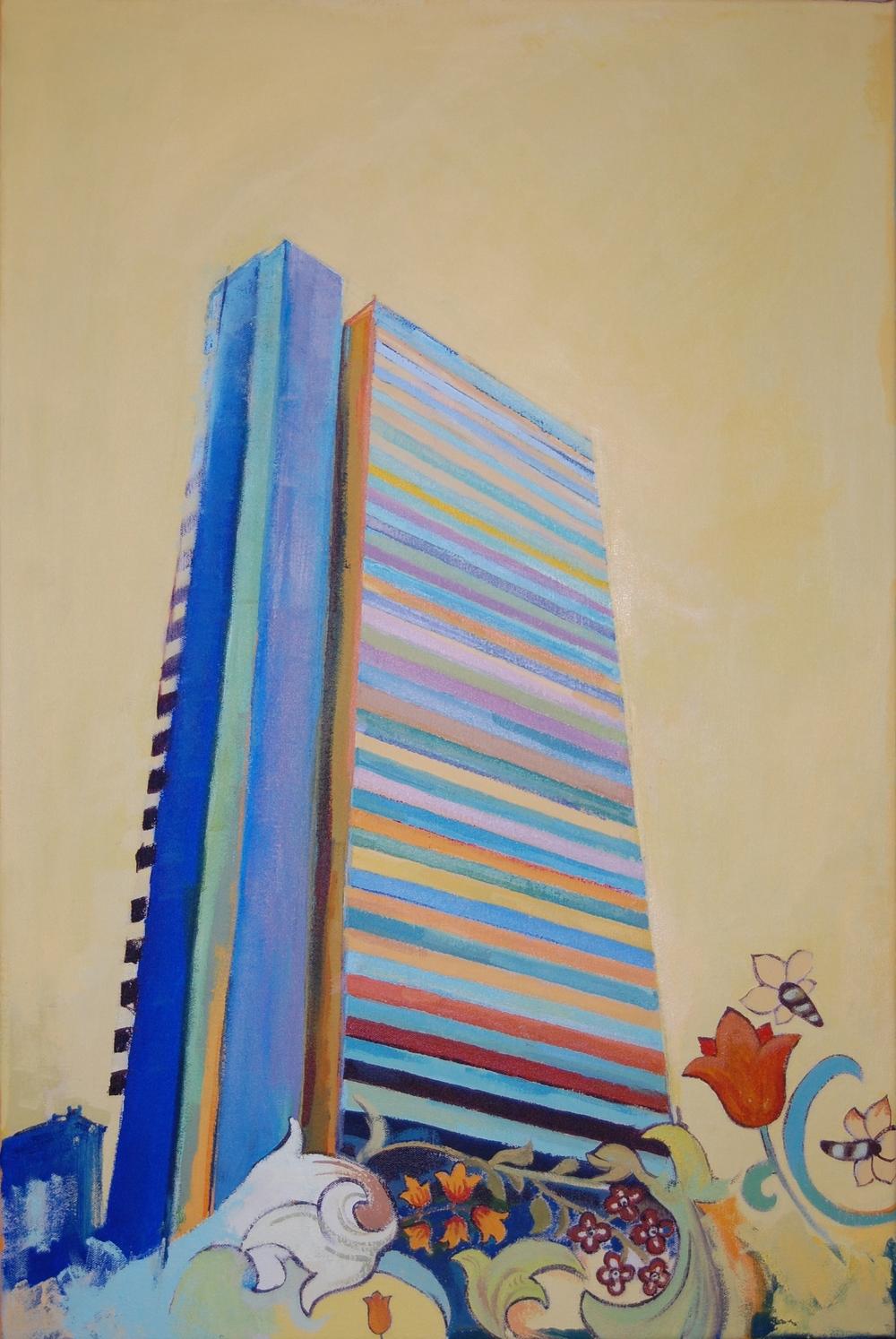 MAYDEW II: acrylic on canvas (50 x 75cm) 2015
