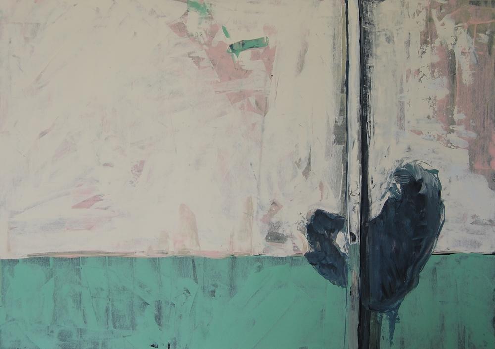 ALCATRAZ PIPE: Farrow & Ball emulsion on paper 2014