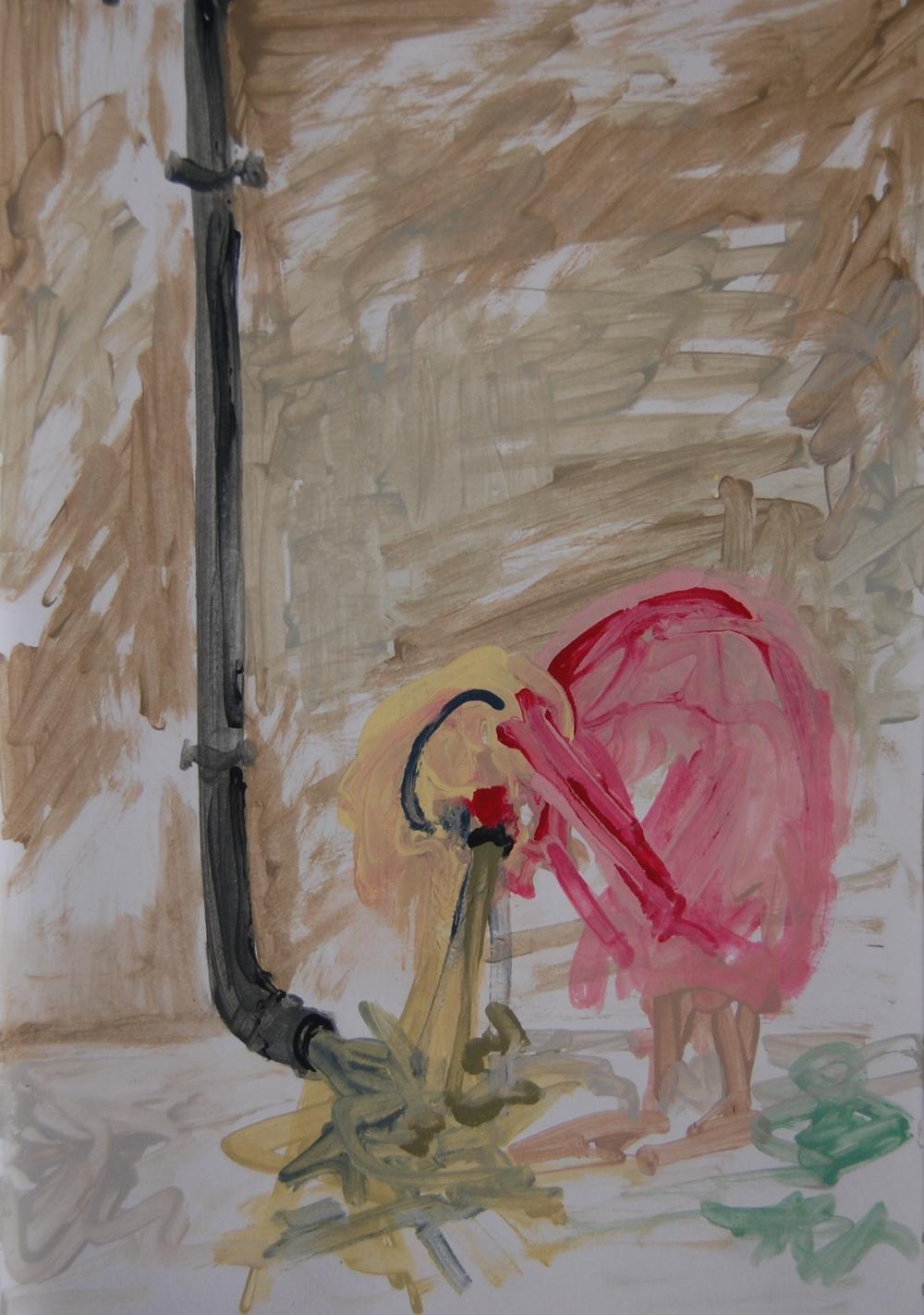 """""""NANCY'S BLUSHES"""": Farrow & Ball emulsion on paper 2014"""