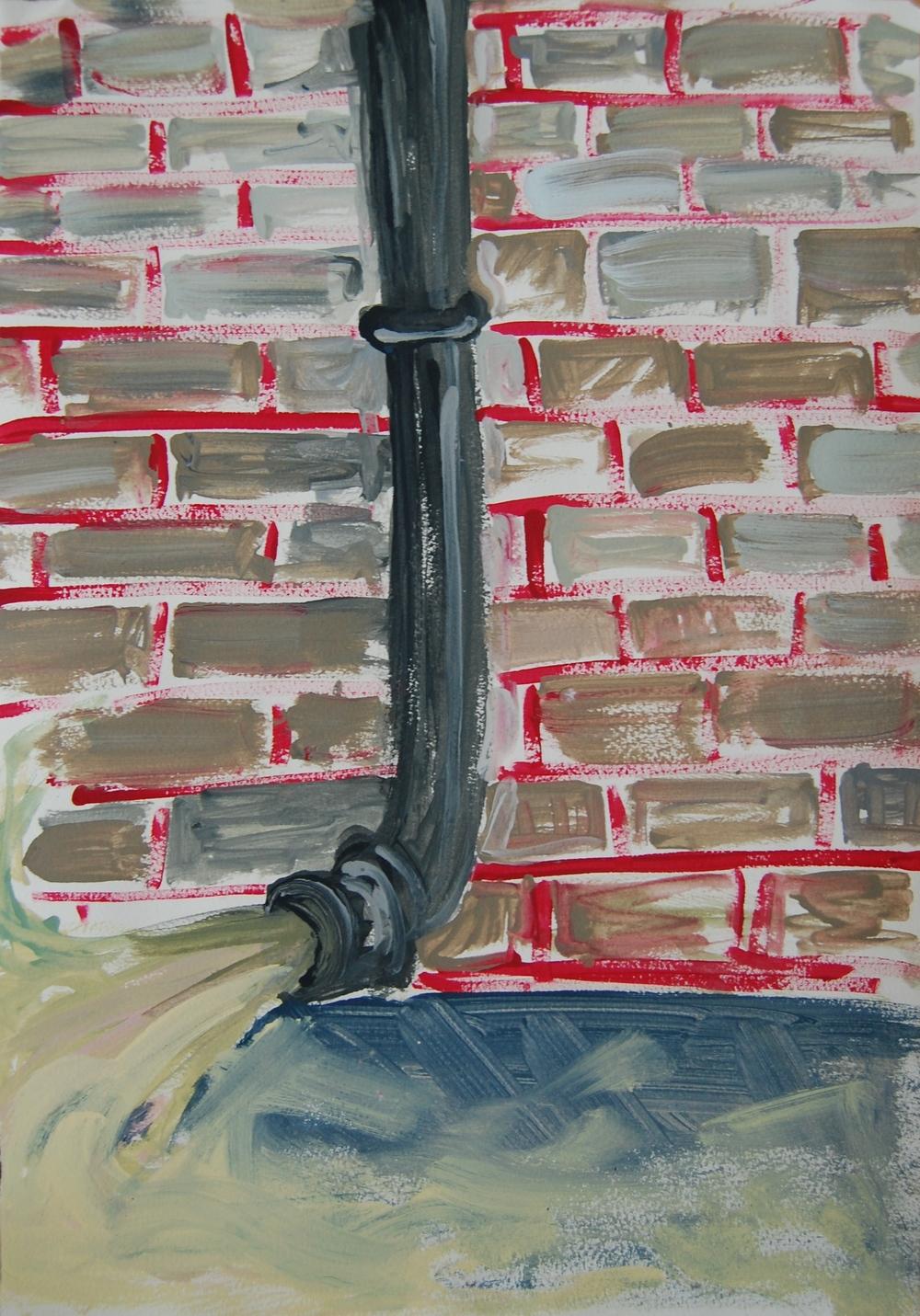 """DOWNPIPE"": Farrow & Ball emulsion on paper 2014"