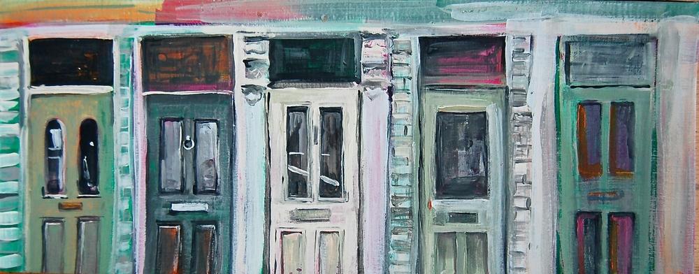 EAST DULWICH DOORS: Farrow & Ball emulsion on paper 2014