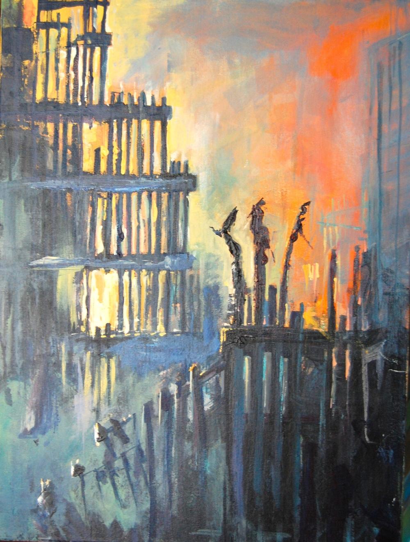 SENTIMENTAL: Acrylic on canvas 2014