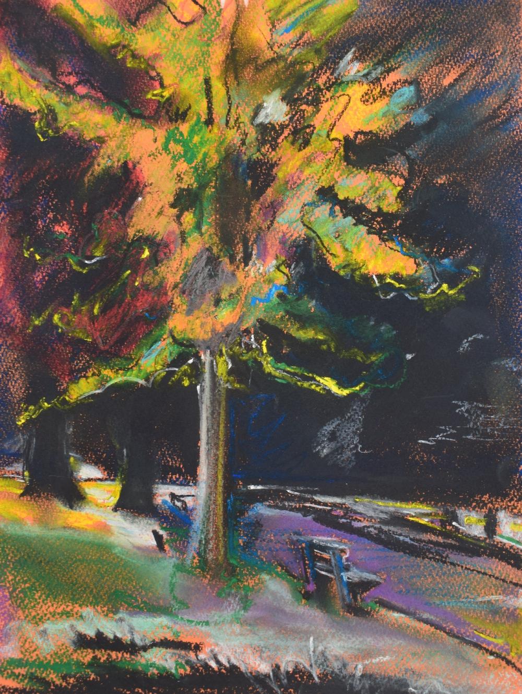 RUSKIN PARK: pastel on paper