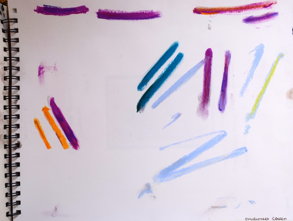 MARKS: pastel on paper