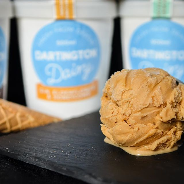 Salted Caramel is quickly becoming our best selling flavour. What's your favourite? #icecream #dartington #madeindevon #devon #instafood #foodstagram #foodporn #instagood #picoftheday #icecreamlover #yummy #icecreamporn #exeterquay #lovetheflavour #instagoat