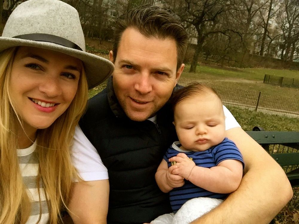 Family Picture. Mom, Husband and Baby Parker