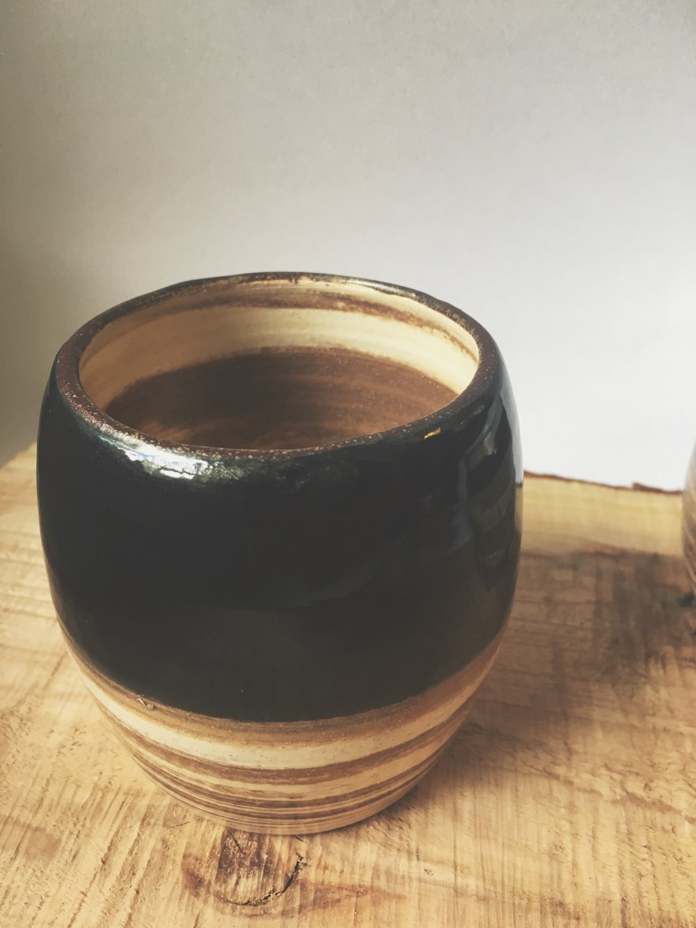 Black Dipped Tumbler