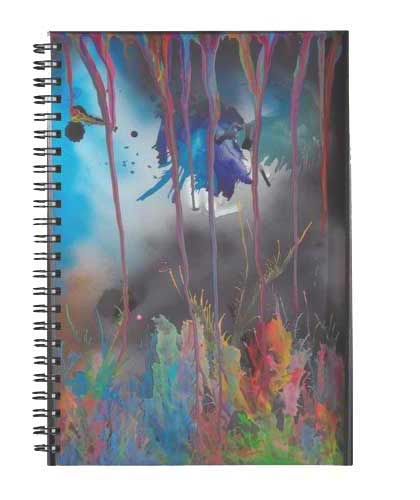 Abstract Spiral Notebooks