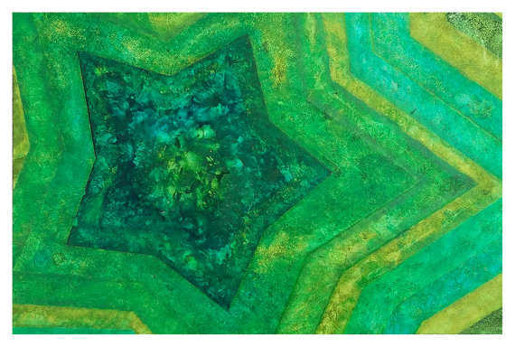 Green Abstract Postcard