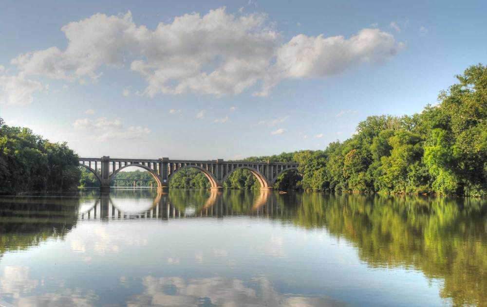 fredericksburg virginia rapphannock railroad bridge - roman style