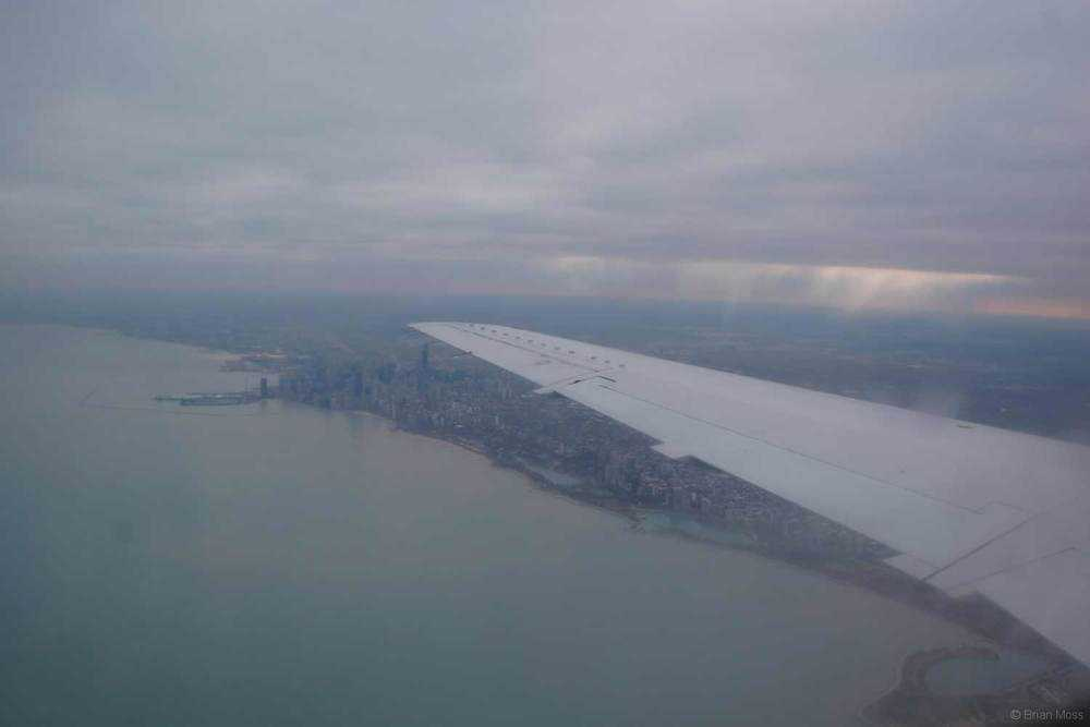 chicago from commercial airplane