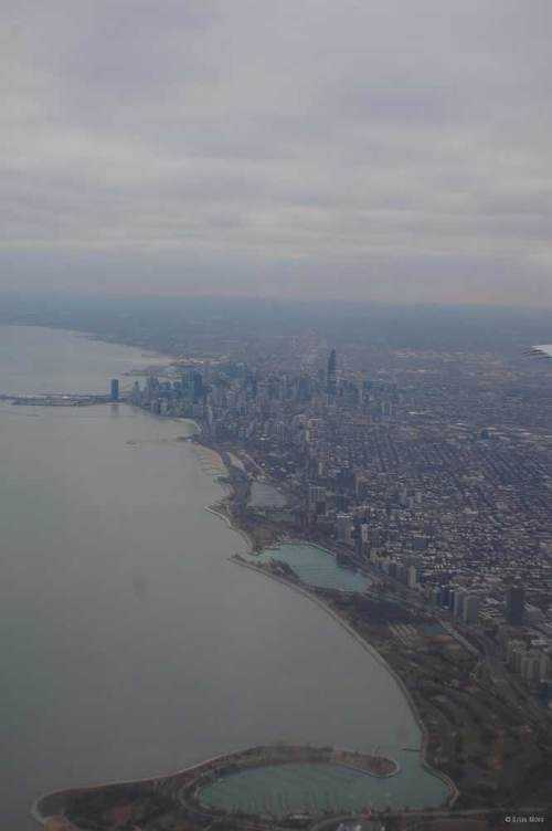 chicago from delta airplane