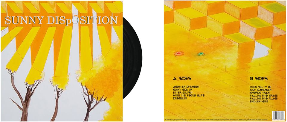 Yellow abstract trees album cover