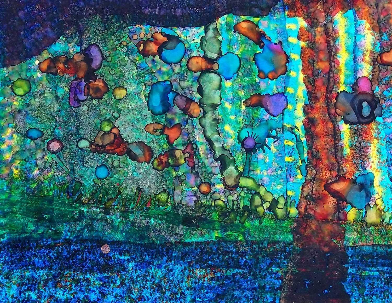 abstract guppy fish u2014 brian moss art