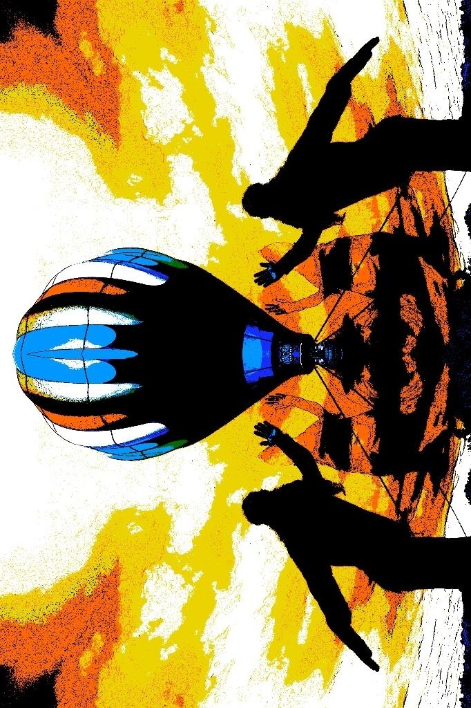 air balloon fractal