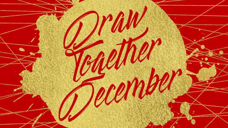 Draw Together December is an initiative intending to do two things. First, draw regular attenders closer by... well... sitting closer together and by changing up where we sit so that we can