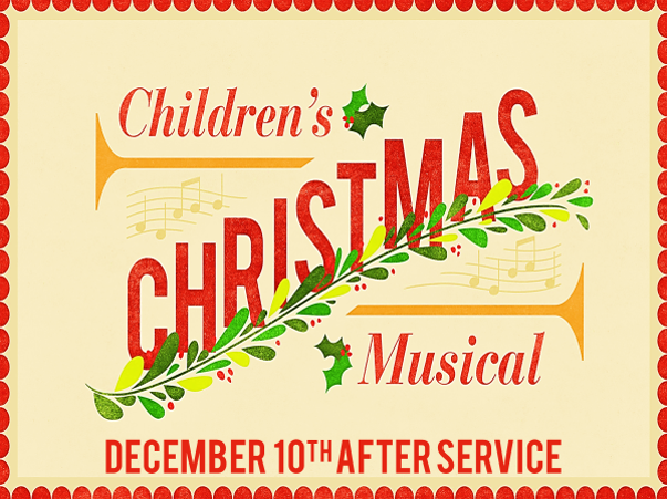 "MARK YOUR CALENDAR FOR THE   CHILDREN'S CHRISTMAS PROGRAM – ""JINGLE BELL BEACH,""  which will be held on Sunday, December 10 at 11:00 am. The dress rehearsal and Christmas party will be this Saturday, 9:30 am-1:00 pm."