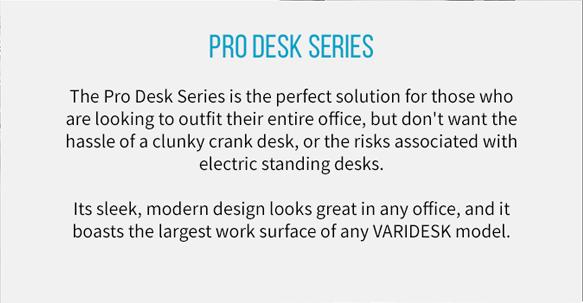 Full Standing Desks from VARIDESK