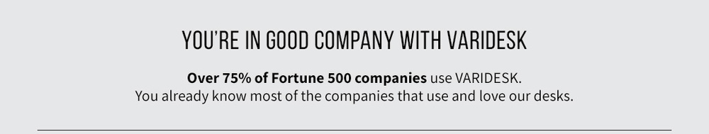 Which companies use standing desks